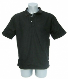 Cut resistant polo Pique-Spectra polyester Short sleeves-Black
